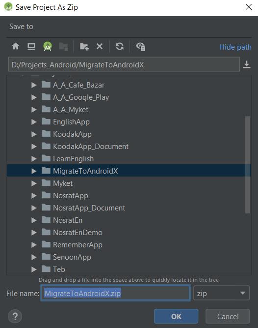 مهاجرت به AndroidX در اندروید استودیو